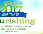 2017, 'The Year of Flourishing'